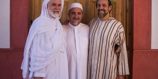 Abdessamad Romero with Dr. Umar Ali Keeler and Faruq Abd-Allah